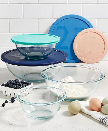 Pyrex 8-Piece Mixing Bowl Set
