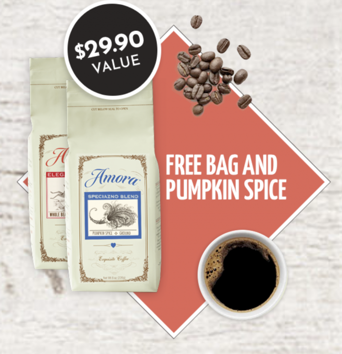 Amora special promo two bags of coffee