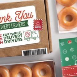 Krispy Kreme: FREE Dozen Doughnuts for Delivery Drivers (November 30)