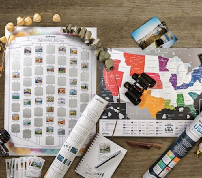*HOT* Scratch Off Travel Maps & National Park Posters as low as $19.48 each, shipped!!