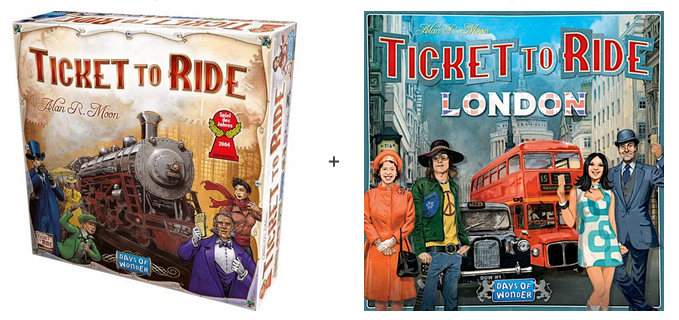Buy Ticket to Ride and get Ticket to Ride London for FREE!