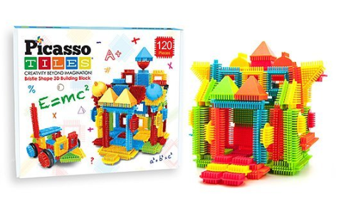 120-Piece Assorted Bristle Blocks Set