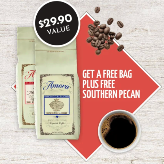 special promo amora coffee two free bags