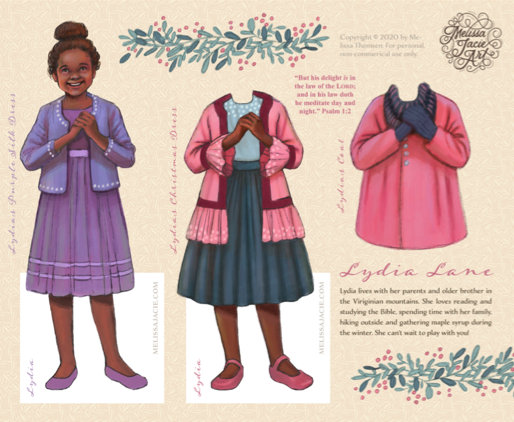Free Lydia Lane Paper Doll Printable