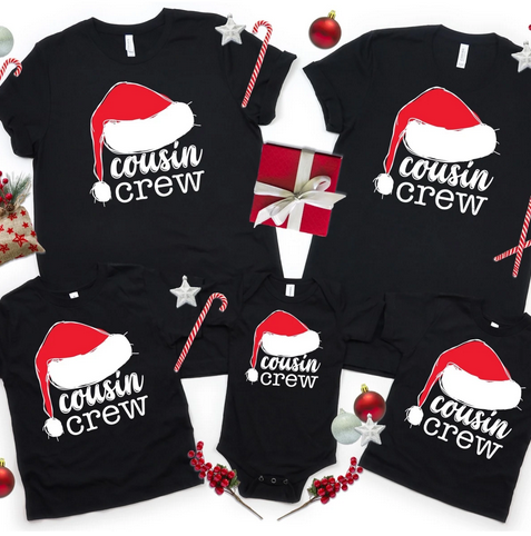 Cousin Crew Holiday Tees
