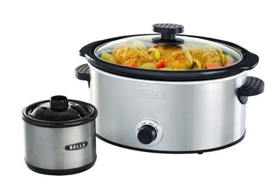 Bella 5-Quart Slow Cooker with Dipper
