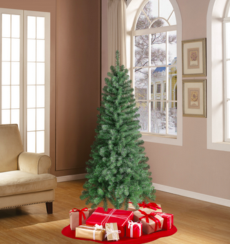 6-Foot Holiday Time Artificial Christmas Tree only $22