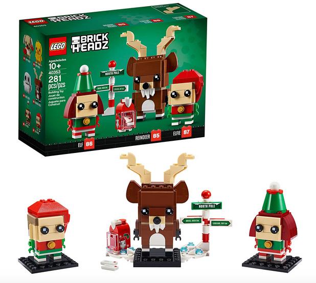 LEGO Brickheadz Reindeer, Elf and Elfie 40353 Building Toy