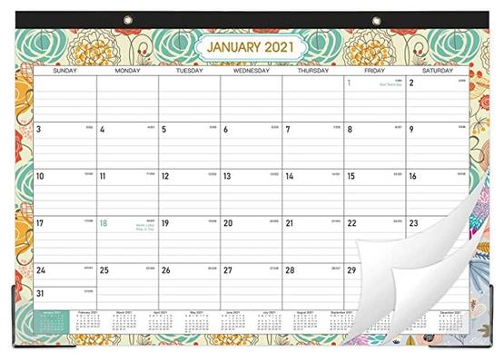 2021 Desk Calendar Desk/Wall Calendar Pad