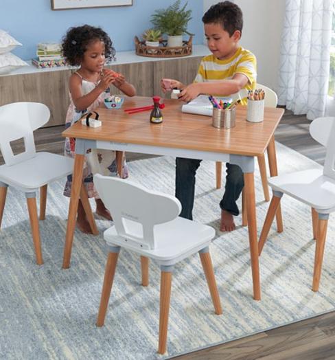 KidKraft Mid-Century Kid Table & Chair Set