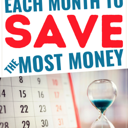 what to buy each month of the year to save money