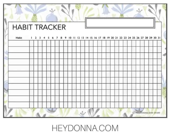Habit Tracker Freebie