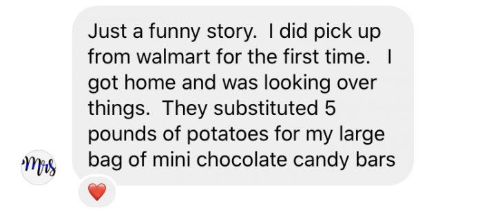 funny story about Walmart Pickup