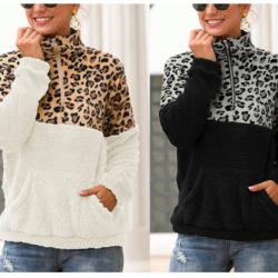 Leopard Print Pullovers