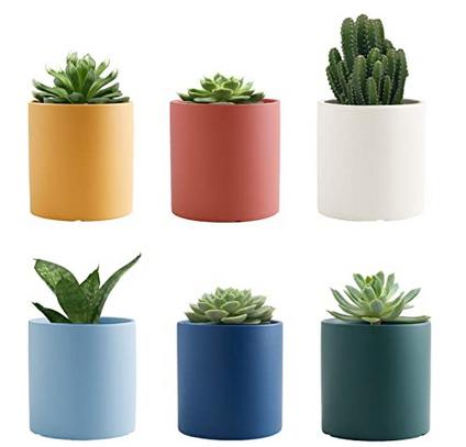 Gdamal Succulent Pots Ceramic Small Plant Pots