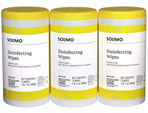 Amazon Brand Solimo Disinfecting Wipes