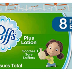 Puffs Plus Lotion Facial Tissues, 8 Family Boxes