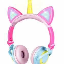 Unicorn Kids Cat Ear Headphones