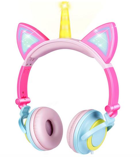 Unicorn Kids Cat Ear Headphones