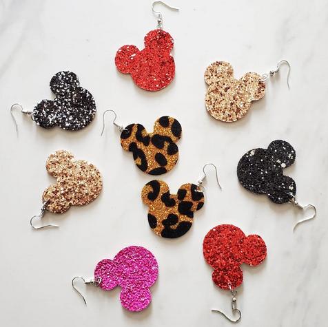 Character Glitter Earrings