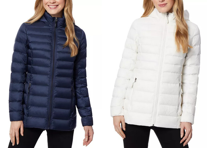 32 Degrees Women's Packable Hooded Down Puffer Coat