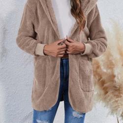 Women's Sherpa Hooded Open Jackets