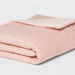 """50"""" x 70"""" Jersey Weighted Throw Blanket with Removable Cover"""