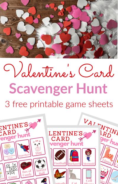 Valentine's Scavenger Hunt for Kids