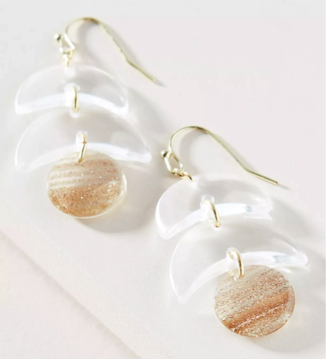 White Glacier Drop Earrings