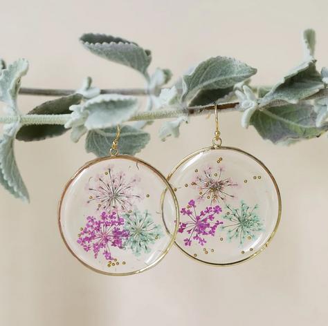 Pressed Botanical Earrings