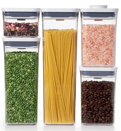 OXO Pop 5-Piece Food Storage Container Set