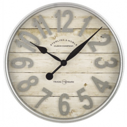 "Better Homes & Gardens 20"" Farmhouse Wall Clock"