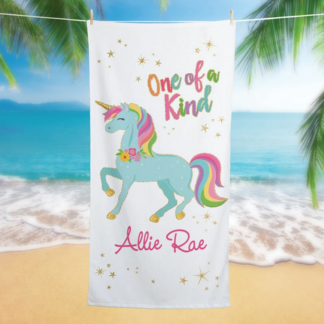 Personalized Kids Beach Towels