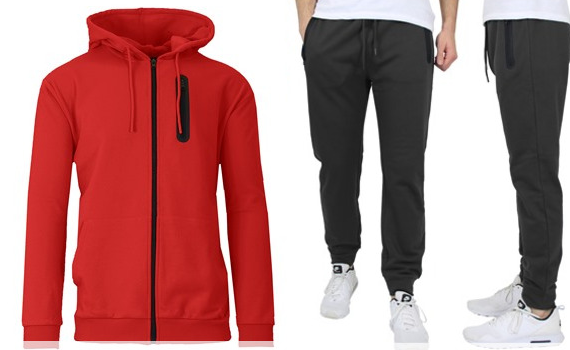 Galaxy by Harvic Men's Hoodie & Jogger 2-Piece Set