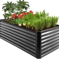 Outdoor Metal Raised Garden Bed