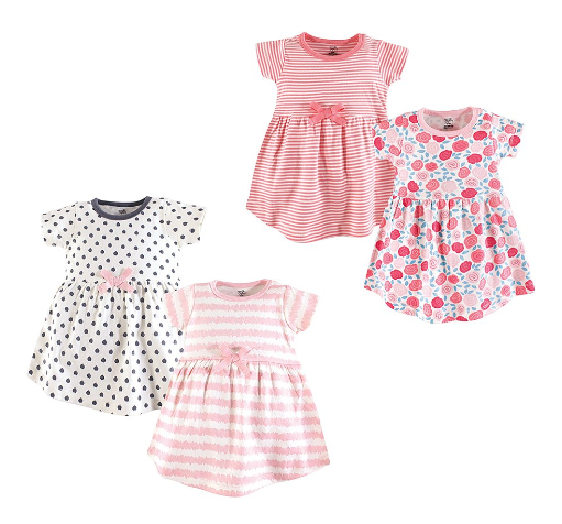 4-Pack Dresses: Baby & Toddler