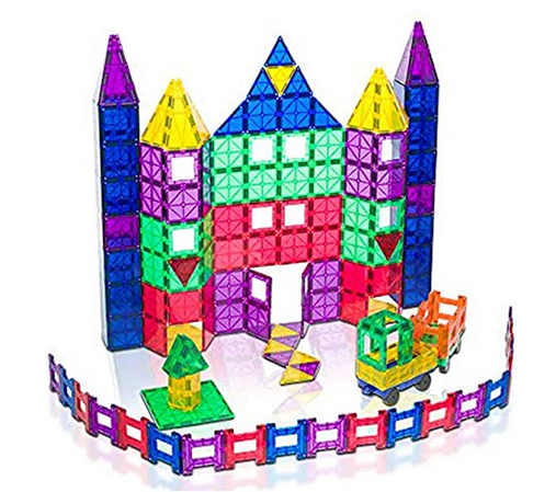 150-Piece Playmags 3D Magnetic Toy Blocks