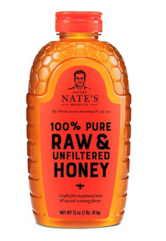 Nature Nate's 100% Pure, Raw & Unfiltered Honey, 32 oz. Squeeze Bottle