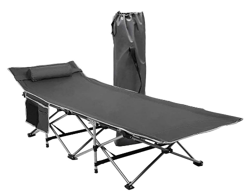 Zone Tech Gray Foldable Camping Cot