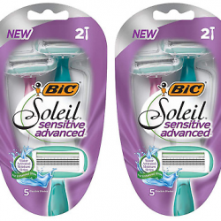 BIC Soleil Sensitive Advanced Disposable Razors (2 ct)