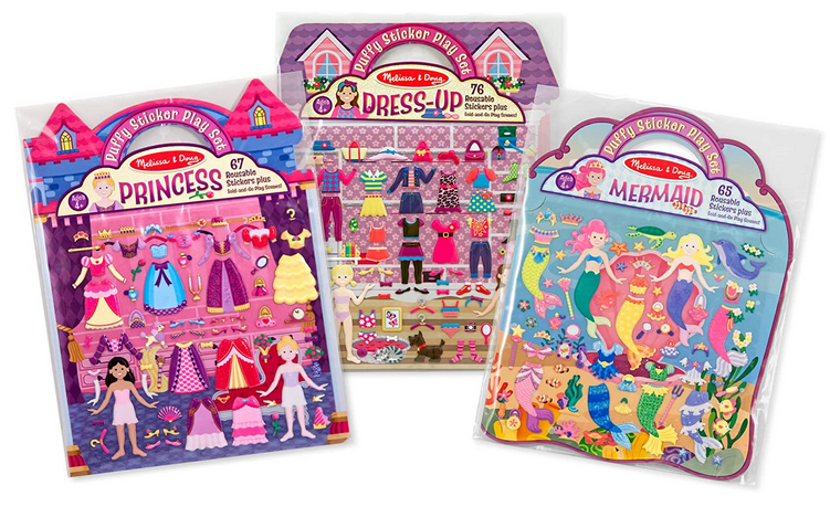 Melissa & Doug Dress-Up, Princess & Mermaid Puffy Sticker Bundle
