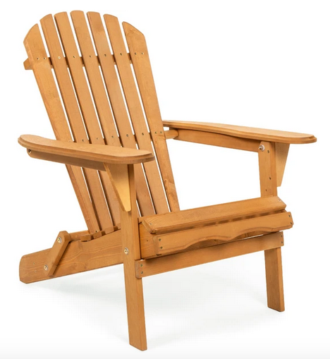 Folding Wood Adirondack Chair Accent Furniture