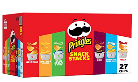 Pringles Snack Stacks Potato Crisps Chips, Flavored Variety Pack