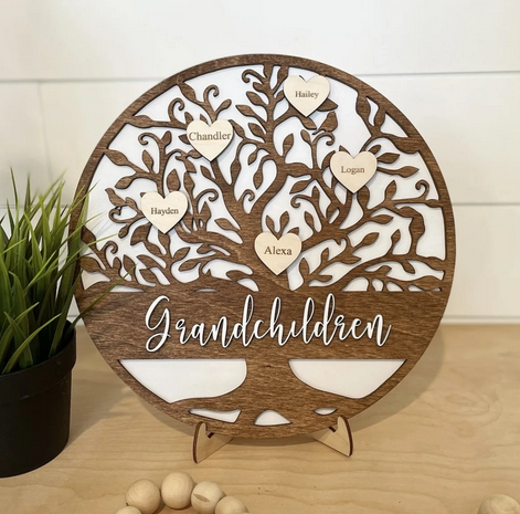 Personalized Family Tree Sign