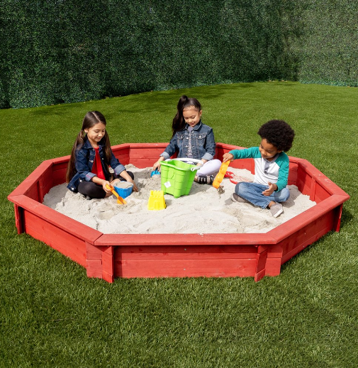 Sportspower Brown Octagon Sandbox Set