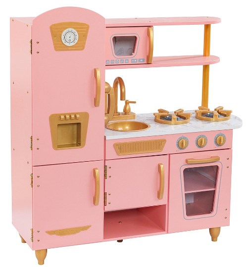 KidKraft Pink & Gold Vintage Play Kitchen