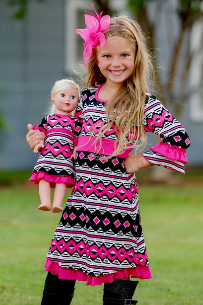 Matching Girl's and Doll Dress Sets