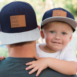 "Matching Daddy & Me ""Best Ever"" Hats"