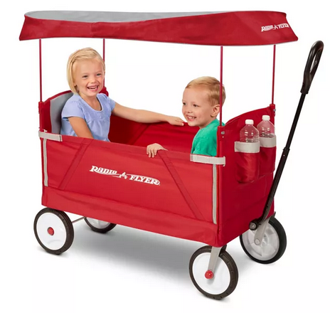 Radio Flyer 3 in 1 EZ Fold Wagon with Canopy