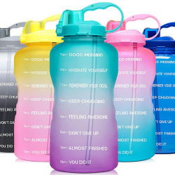 Water Bottle with Motivational Time Marker